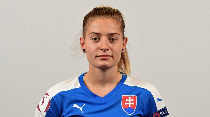 Fabova zagrała w barwach Słowacji