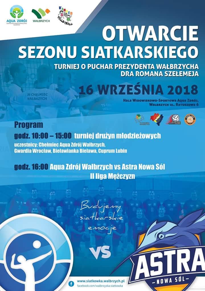 Transmisja: Turniej o Puchar Prezydenta/Sparing Aqua Zdrój Volleyball Team Wałbrzych