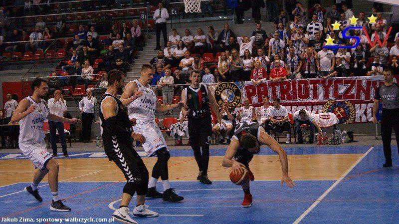 I liga koszykówki: Prawdziwy rollercoaster w Aqua-Zdroju. Górnik jednak wygrywa
