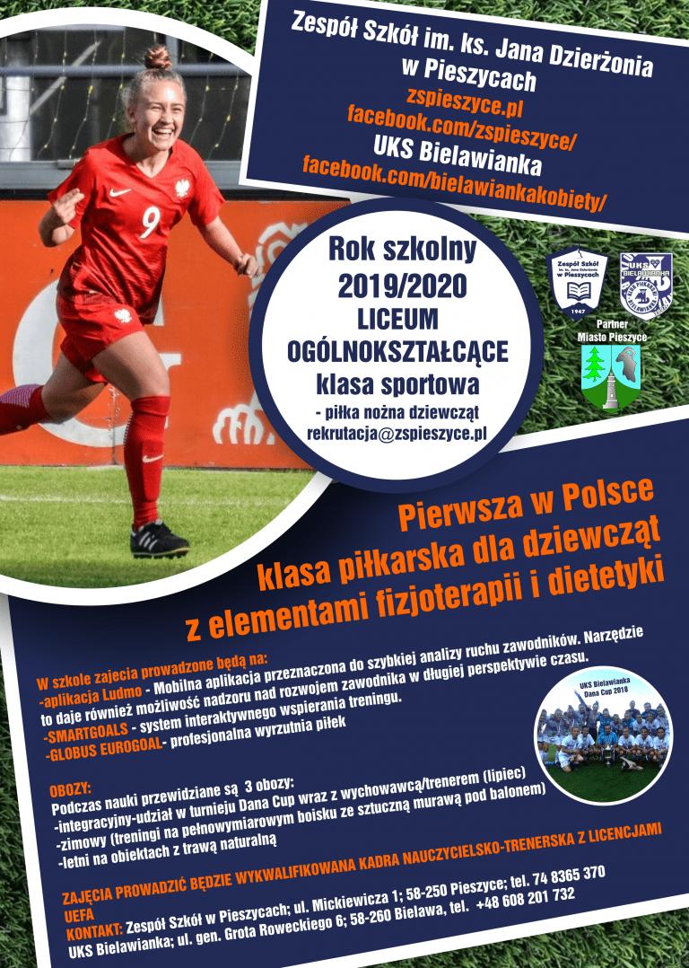 UKS Bielawianka Bielawa tworzy klasę piłkarską w Liceum Ogólnokształcącym