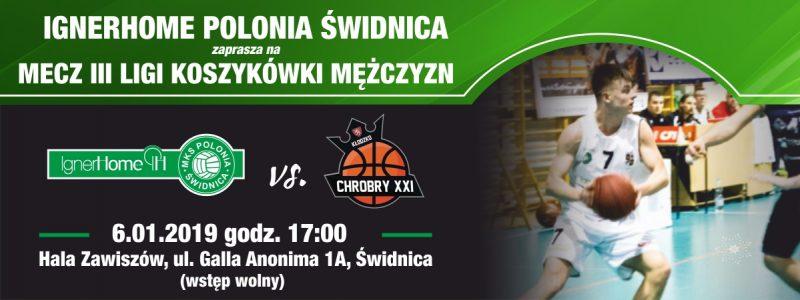 Transmisja: Igner Home Polonia Świdnica vs Chrobry XXI Kłodzko