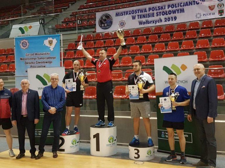 Tenis: Za nami Mistrzostwa Polski Policjantów w tenisie stołowym