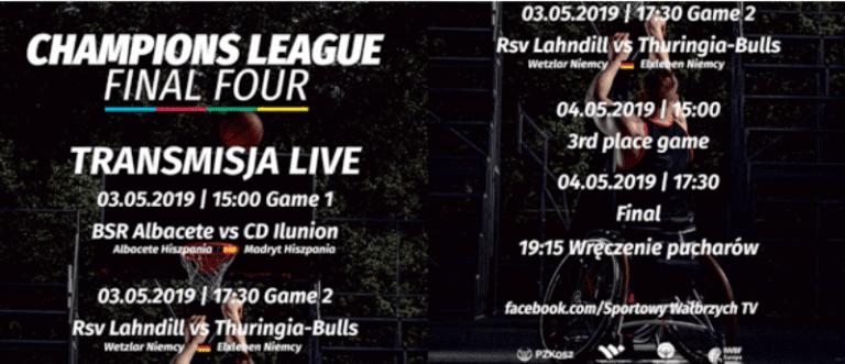 LIVE: Przed Finał Ligi Mistrzów w koszykówce na wózkach – transmisja LIVE tylko na Sportowym Wałbrzychu!!