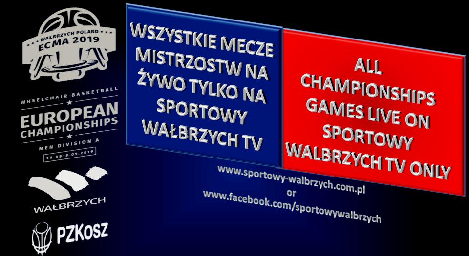 ME: Transmisje z turnieju / All games on Sportowy Walbrzych ONLY!!!