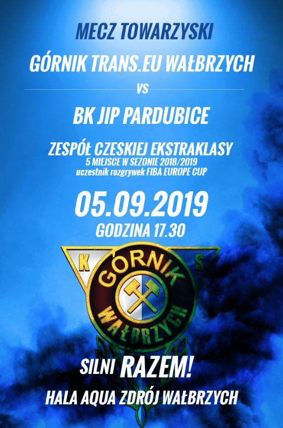 I liga koszykówki: Czeskie BK Jip Pardubice przedsezonowym rywalem Górnika