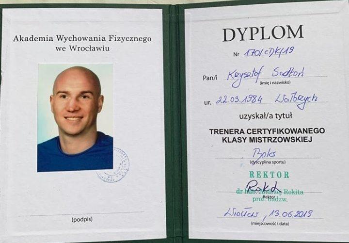 Boks: Krzysztof Sadłoń trenerem klasy mistrzowskiej