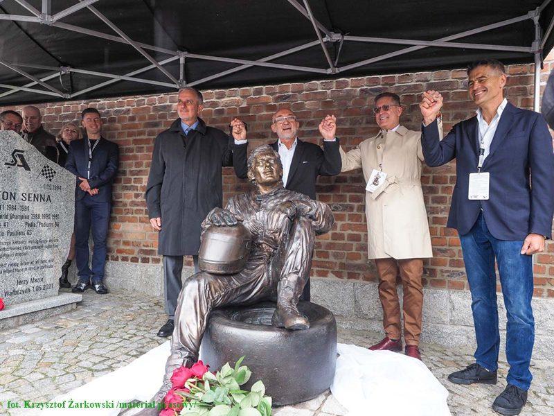 odsłonięcie pomniku Ayerton Senna Wałbrzych - autor zdjęcia Krzystzof Żarkowsk
